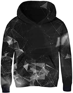 Boys Girls Wolves NOT FAR Teen Youth Hoodie Black S
