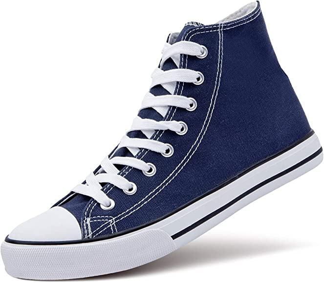 ZGR Men's High Top Canvas Sneakers Lace