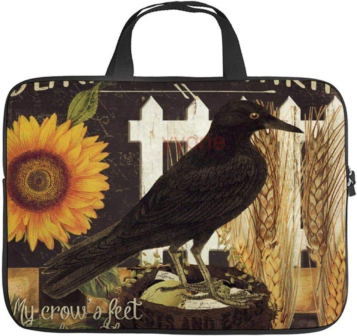 Neoprene Sleeve Laptop Handbag Case Cover Black Crow Farms Patchword Portable MacBook Laptop/Ultrabooks Case Bag Cover 13-13.3 Inch