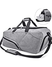 99adfe81e5d3 NUBILY Gym Bag Sports Duffle Bag with Shoe Compartment Waterproof Large  Travel Holdall Bags Weekend Bag