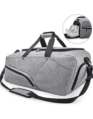 Bolsa de Deporte Hombre Bolsas Gimnasio Mujer de Grande Viaje Impermeable  con Compartimento para Zapatos Bolsos bae7d3163d1