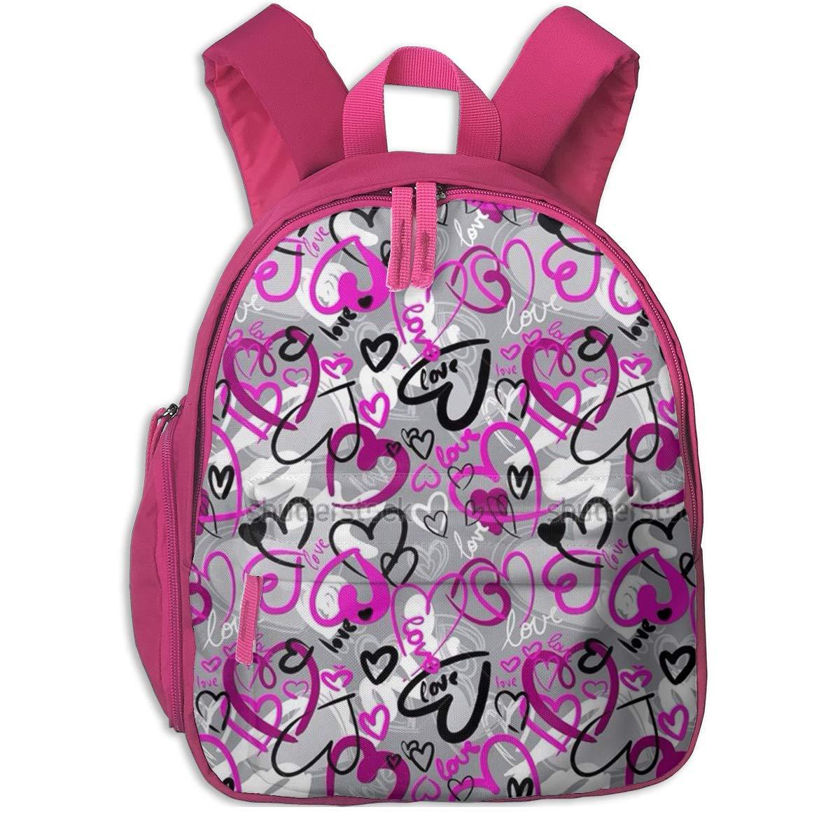 Sd4r5y3hg School Backpack for Girls Boys, Kids Cute lila Love Cartoon Backpacks Book Bag B07MK6NSJB Daypacks Haltbarkeit
