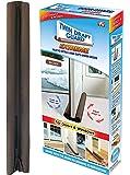 Vagalbox Protector y guardapolvo para Puerta, Tope para Puerta de bajo Puerta, diseño de Doble Borde, 1 Paquete, Marrón