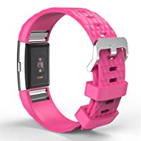 """Fitbit Charge 2 Band, MoKo Soft Silicone Adjustable Replacement Sport Strap Band for 2016 Fitbit Charge 2 Heart Rate + Fitness Wristband, Wrist Length 5.70""""-8.26"""" (145mm-210mm)."""