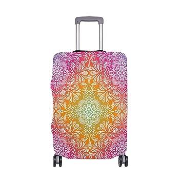 Maleta de Viaje con Estampado Floral Tribal con Estilo de Viaje para viajeros con Ruedas giratorias