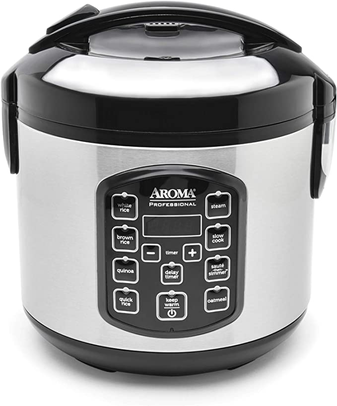 Aroma Housewares ARC-954SBD Rice Cooker, 4-Cup Uncooked 2.5 Quart, Professional Version   Amazon