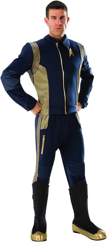 Rubie's 821182-STD Star Trek Discovery Command Costume Uniform, Gold, Standard