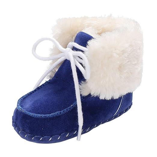 ❤ Botas de Peluche para bebé, Botas de Nieve para el Invierno Toddler Girl Boys recién Nacido Antideslizante bebé Botas de Nieve Zapatos Absolute: ...