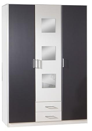 Wimex Rocco 380484 Wardrobe 3 Doors 135 x 197 x 58 CM-Front and Body & Wimex Rocco 380484 Wardrobe 3 Doors 135 x 197 x 58 CM-Front and ... Pezcame.Com