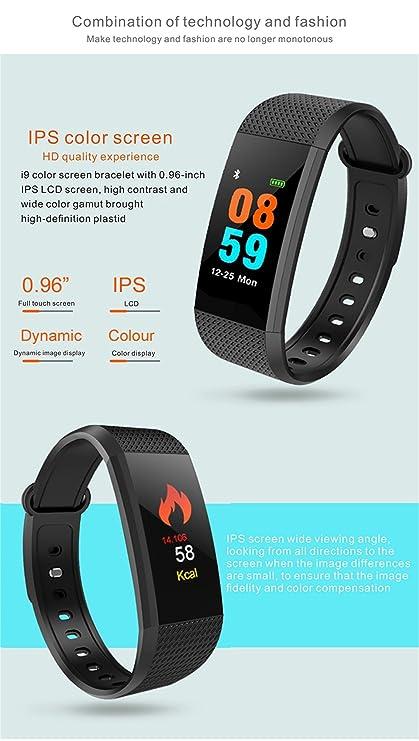 Aubess - Pulsera Inteligente con Monitor de frecuencia cardíaca y ...