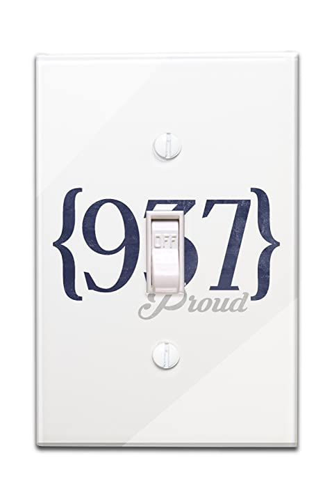 Amazoncom Dayton Ohio Area Code Blue Light Switchplate - 937 area code