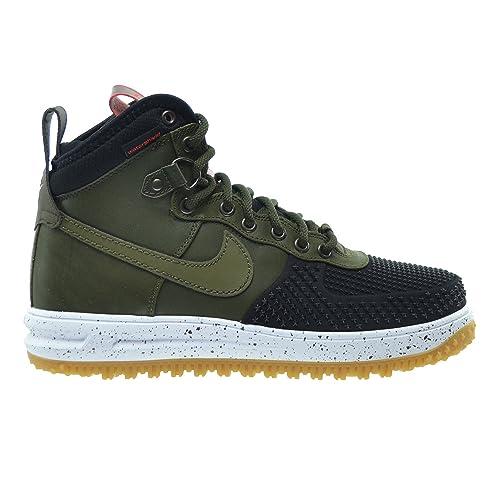 hot sale online 02911 20e0d ... best price nike lunar force 1 duckboot mens shoes black dark loden  bright crimson gum af78f