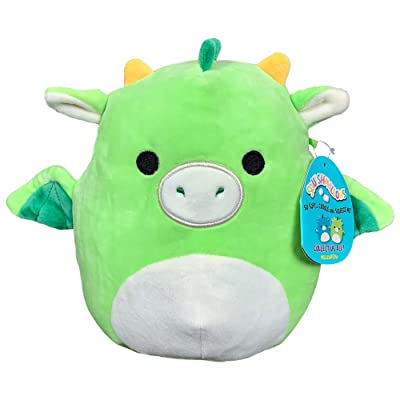 Squishmallow 8 Inch Dexter The Dragon Stuffed Animal, Super Pillow Soft Plush Toy Pal, Green: Kitchen & Dining