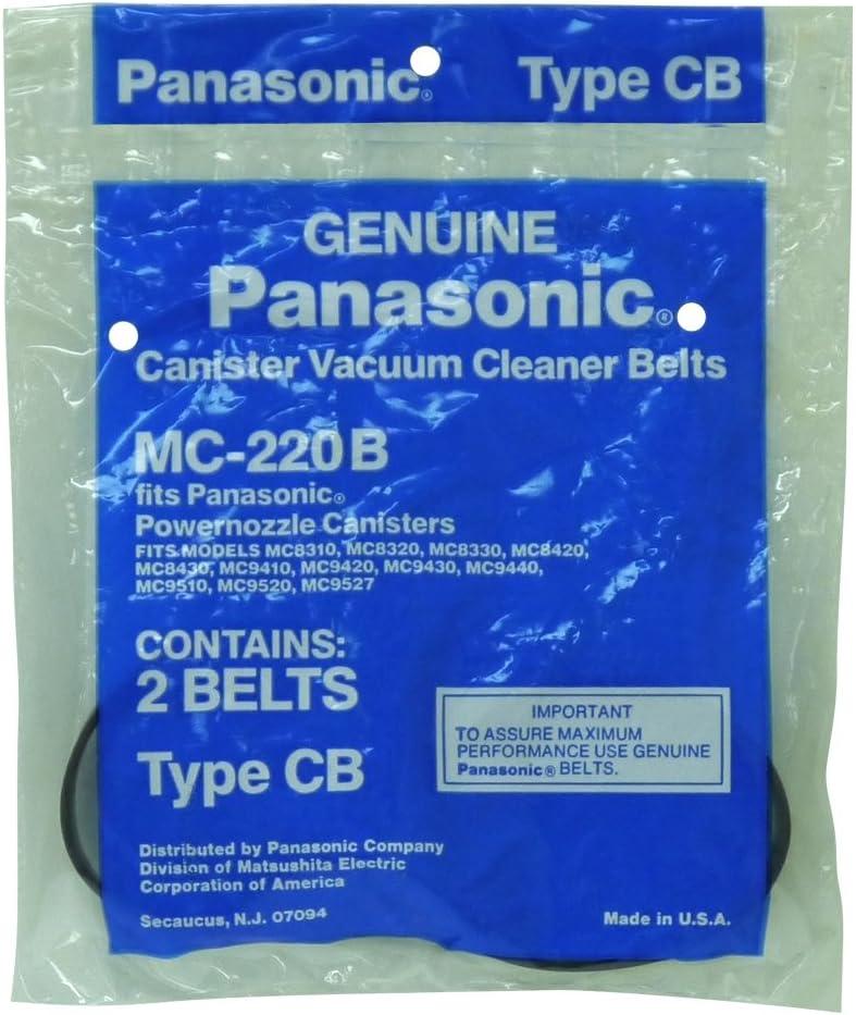 Panasonic MC-220B Canister Vaccum Belt, Type CB, 2-Pack