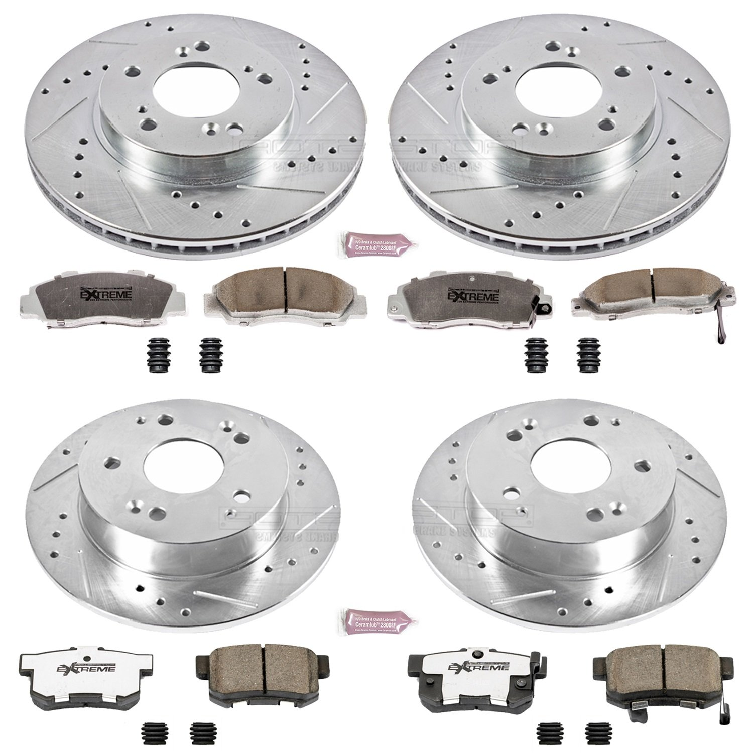 Power Stop K707-26 1-Click Street Warrior Z26 Brake Kit