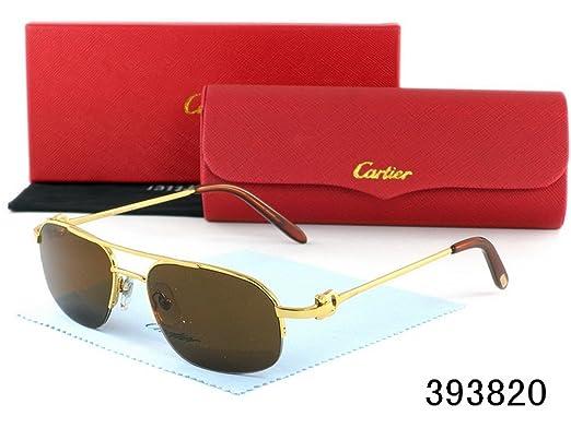 4e91ee4bb35 Amazon.com  Cartier Men And Women Fashion Sunglasses Glasses 002-1 ...