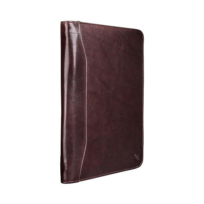 Maxwell Scott® Carpeta portadocumentos café en piel Italiana A4 PERSONALIZABLE (Dimaro): Amazon.es: Equipaje