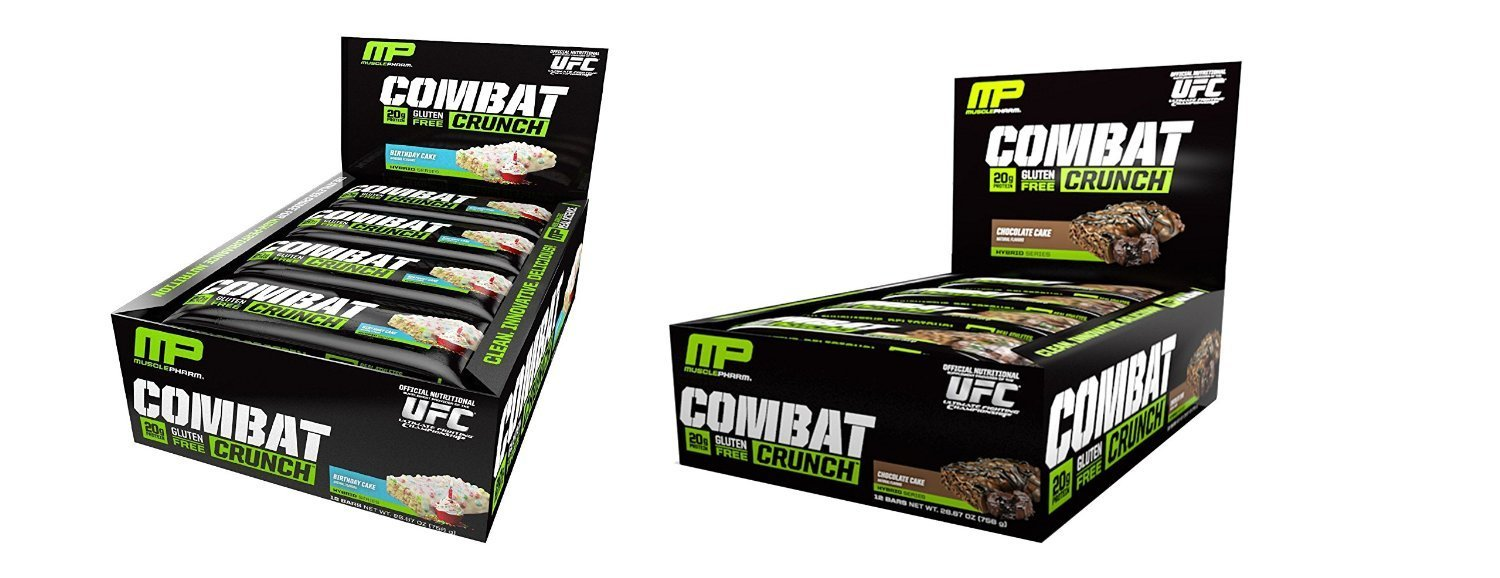 Amazon Muscle Pharm Combat Crunch Birthday Cake 12 Bars Chocolate Health Personal Care