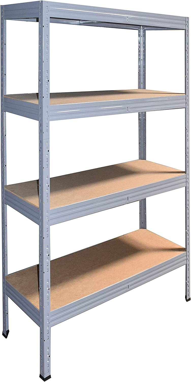 shelfplaza/® PRO /Étag/ère modulaire gris de 180x75x30 cm avec 4 tablettes entrep/ôts garage grenier atelier maison capacit/é de 800 kg