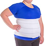 BraceAbility XL Plus Size Bariatric Abdominal Stomach Binder | Obesity Girdle Belt for Big Men & Women with a Large Belly, Post Surgery Tummy & Waist Compression Wrap (Fits 32 -42  Body Circumference)