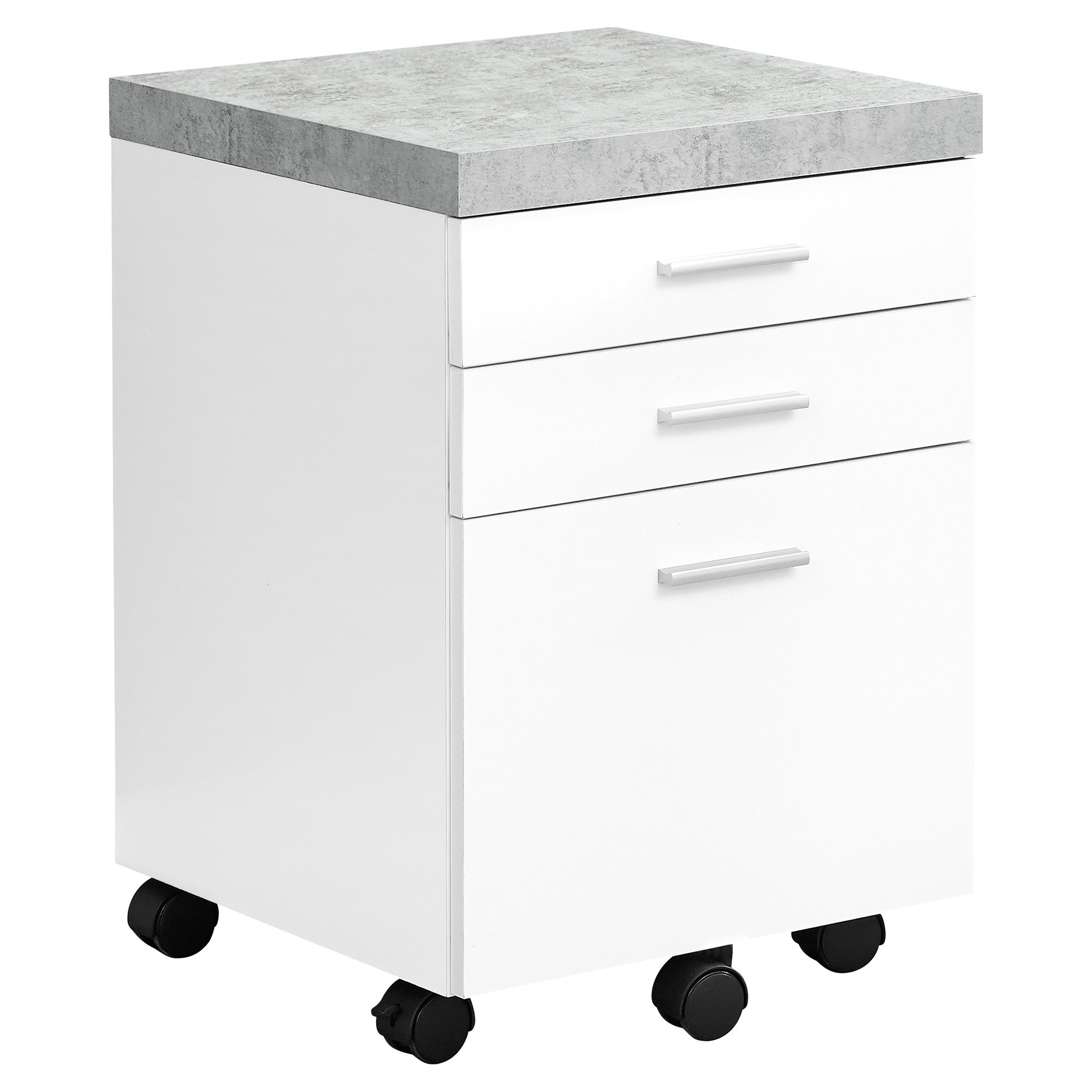 Monarch Specialties I I 7051 Filing Cabinet, White, 18.25'' L x 17.75'' D x 25.25'' H