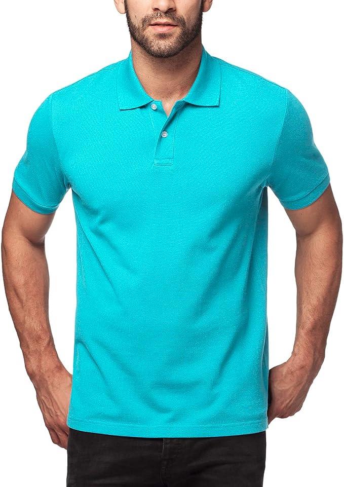 LAPASA Polo para Hombre de Manga Corta Camiseta Casual 100% Puro Algodón (Color Gris: 90% Algodón, 10% Viscosa) M19: Amazon.es: Ropa y accesorios