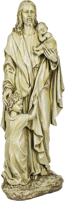 Joseph Studio 46020 Tall Standing Jesus with 2 Children Statue, 24-Inch
