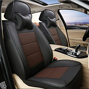 Front seat covers fit Toyota Land Cruiser black//beige  Leatherette