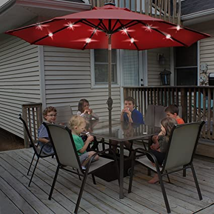 solar led lights offset patio smart automation umbrella and umbrellas guide powered with prices ft best ratings reviews home