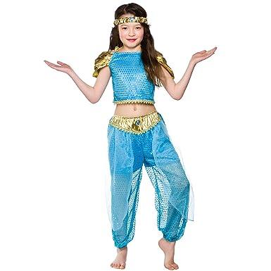 e1247790aa13c Girls Arabian Princess Costume Fancy Dress Up Party Halloween Outfit Kids  Child
