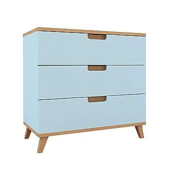 Kommode Sideboard Fabric Esche-Grau - Kommoden - Kinderzimmer - Möbel