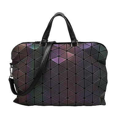 Frauen Mode Aktentasche Falten Handtasche Geometrische Umhängetasche,A-OneSize ADEFG