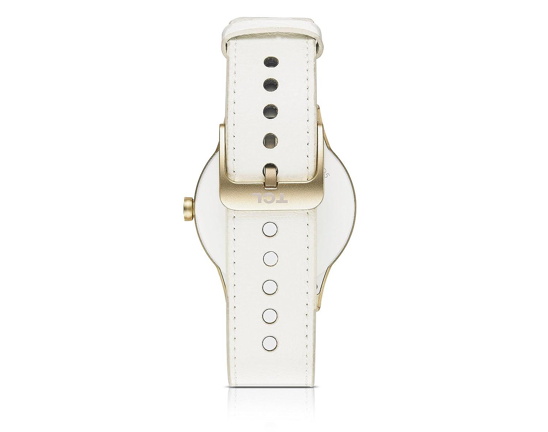 Alcatel TCL MOVETIME Smartwatch Oro con Lederbracelet Blanco ...
