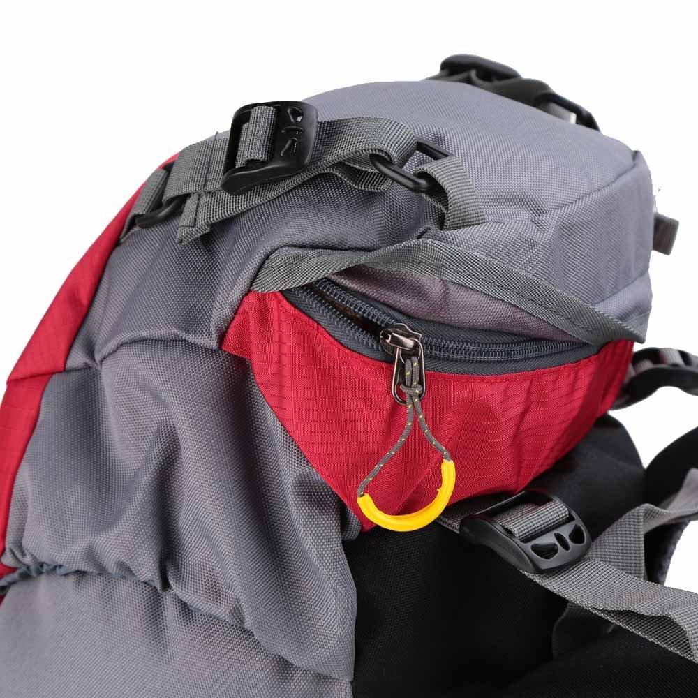 Lixada Mochila de Senderismo 50L con Cubierta Impermeable Mochila de Marcha Trekking Camping Deporte al Aire Libre