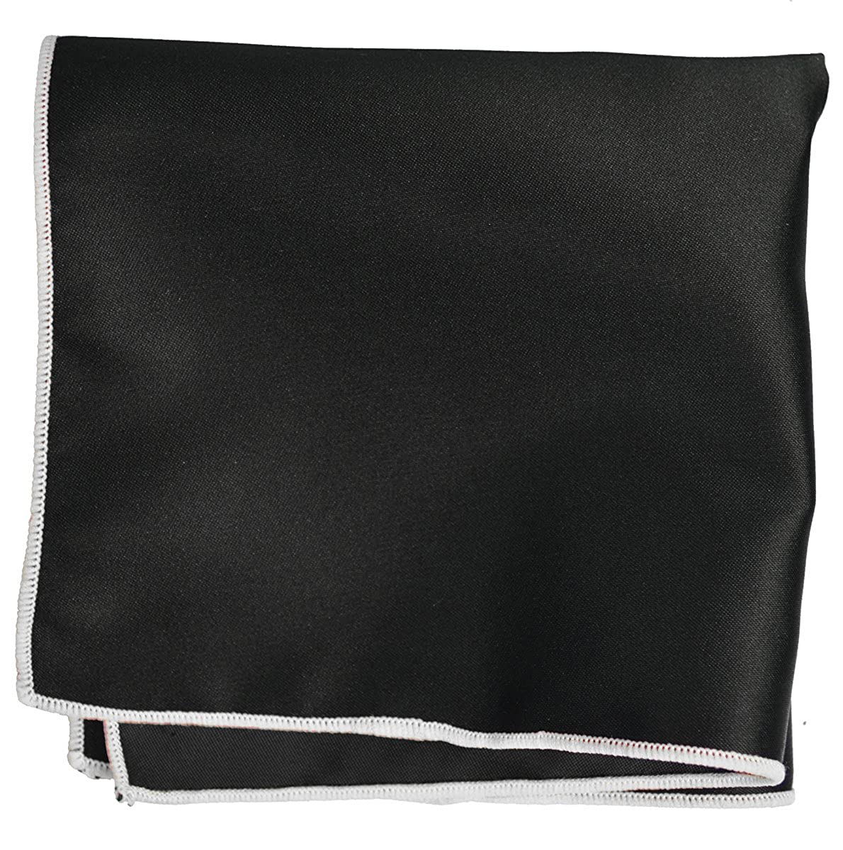 Grey Checked Mens Tie with Black Pocket Square Set