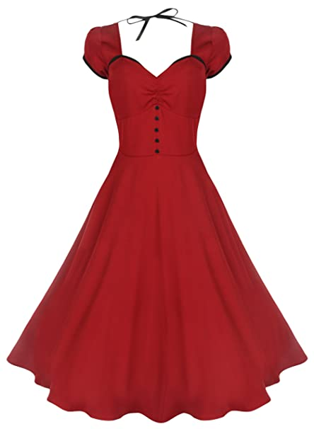 5a177d6a29fa Lindy Bop  Bella  Classy Vintage 1950 s Rockabilly Style Swing Party Jive  Dress (24
