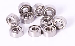 Acer 4x10x4mm Ball Bearing Stainless 10pcs MR104 Bearing 4x10mm Fishing Reel Bearing Racing
