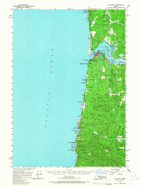 Amazon Com Yellowmaps Waldport Or Topo Map 1 62500 Scale 15 X 15