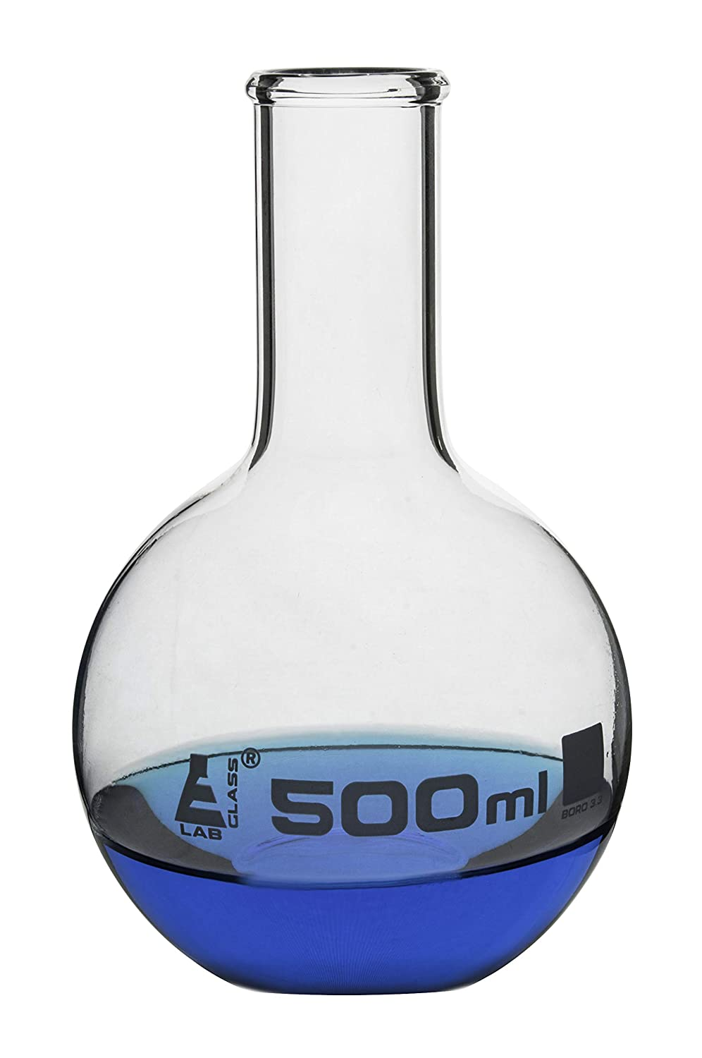 Eisco Labs 500mL Florence Borosilicate Boiling Flask