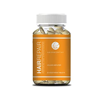 Hairworthy Hairrepair Tablets - Healthier, Fuller and More Volume. Brewers Yeast and Biotin for