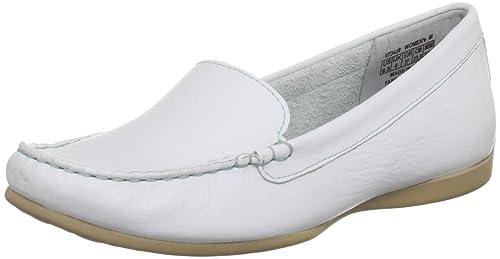 Rockport Demisa Plain Moc Bright White, Mocasines para Mujer, Blanco-Weiß, 37 EU: Amazon.es: Zapatos y complementos