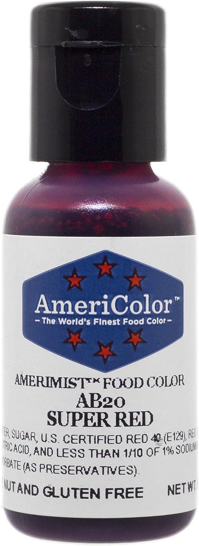 AmeriColor AmeriMist Super Red Airbrush Food Color, .65 oz