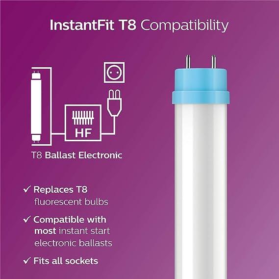 Buy Philips 456608 Instantfit 32W Equivalent T8 LED Tube 5000K Light