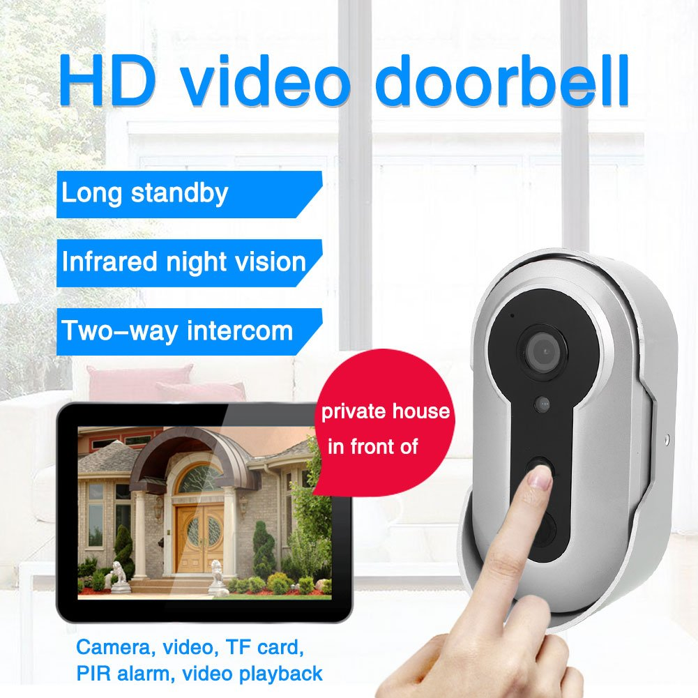 Smart Wireless Doorbell, Ultra-Long Standby Time Electric Doorbell With IP Camera Two-Way Intercom
