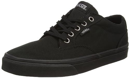 Vans Winston, Damen Sneakers, Schwarz (CanvasBlackBlack