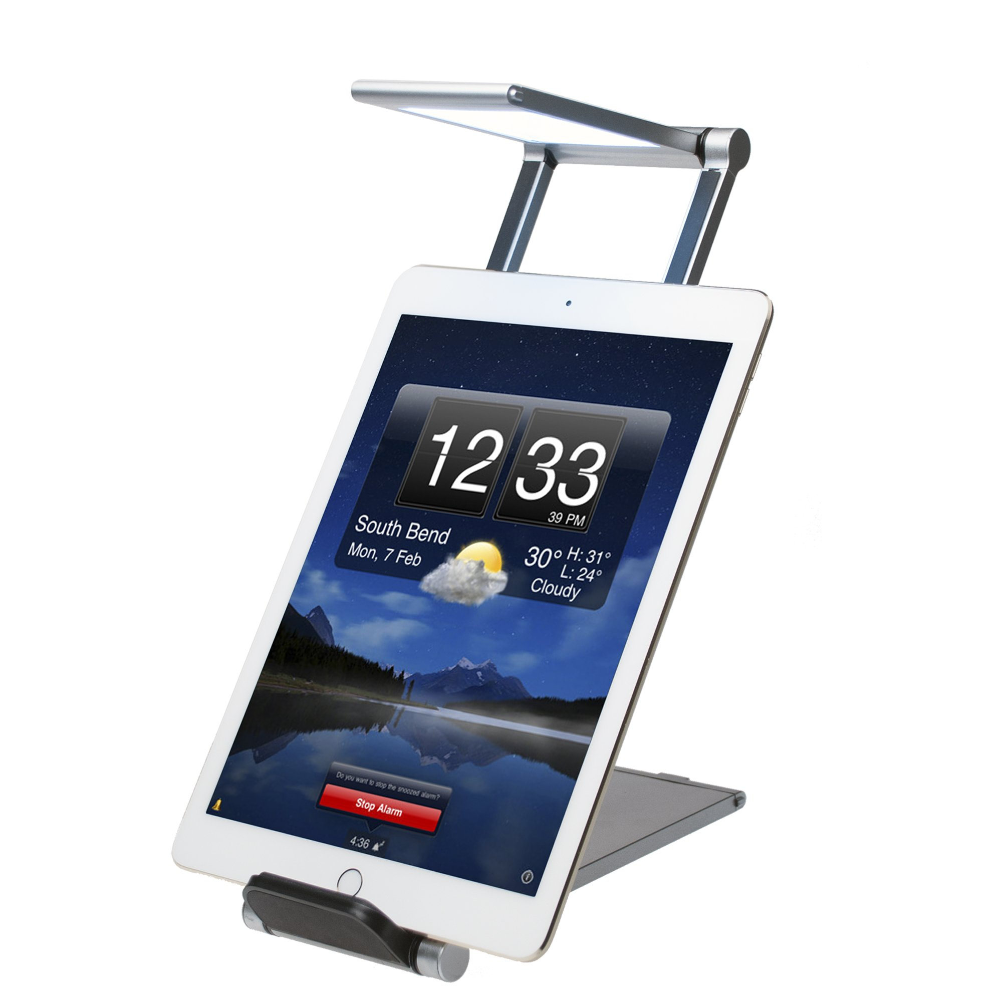 CTA Digital Foldable LED Desk Lamp Stand for Smartphones & Tablets up to 11.25'' in Length PAD-FLD