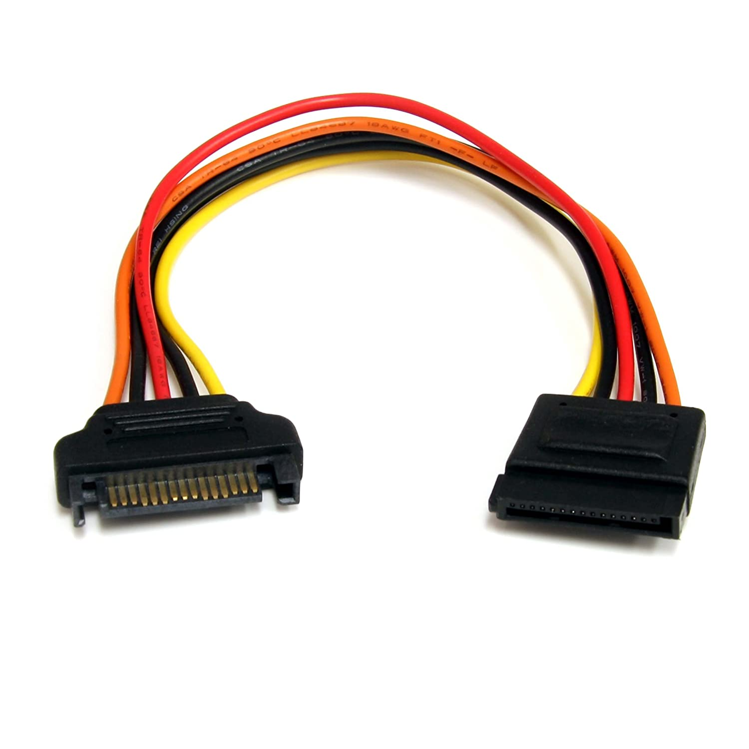 StarTech.com 8in 15 pin SATA Power Extension Cable - 8 SATA power Extension Cable - 8 SATA power Extension cord SATAPOWEXT8