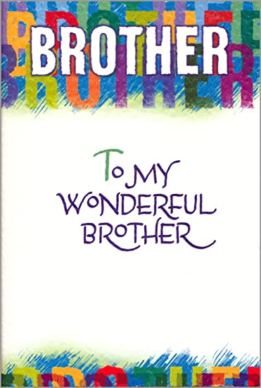 Amazon Blue Mountain Arts Brother Birthday Greeting Card To