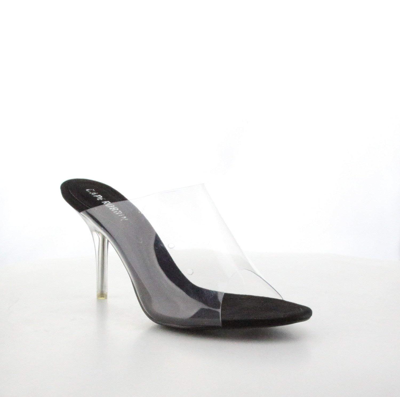 2ff9a6ab343 Amazon.com | Shoes2Die4 Cape Robbin Stealthy Black Transparent Peep ...