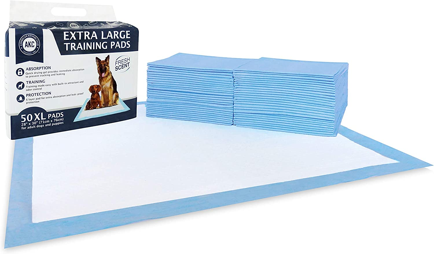 American Kennel Club Pet Training and Puppy Pads, Regular and Extra Large